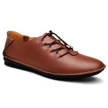 Stylish Stitching and PU Leather Design Formal Shoes For Men