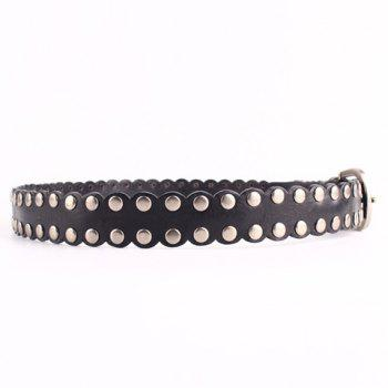 Chic Fulled Studs Embellished Pin Buckle Faux Leather Women's Belt - BLACK