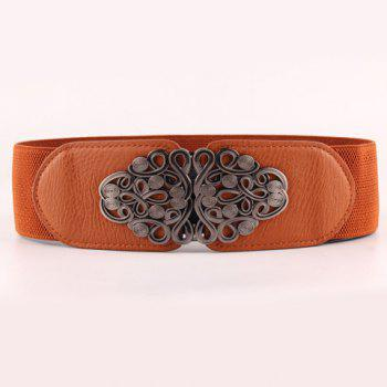 Chic Hollow Out Ethnic Knot Shape Metal Embellished Women's Elastic Waistband