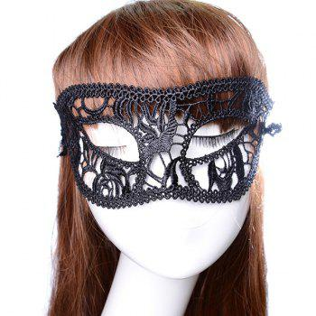 Fashionable Glasses Shape Hollow Out Half-Face Lace Halloween Party Mask For Women