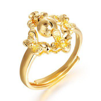 Chic Retro Style Solid Color Adjustable Finger Ring - GOLDEN ONE-SIZE