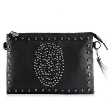 Stylish Rivets and Skull Design Clutches For Men