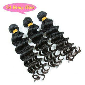 5A Remy Hair Trendy Loose Body Wave Natural Black 3 Pcs/Lot Women's Indian Human Hair Weft - BLACK BLACK