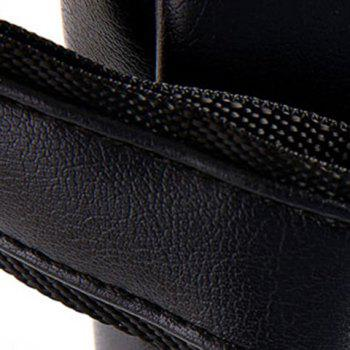Fashion Zipper and Rivets Design Messenger Bag For Men -  BLACK