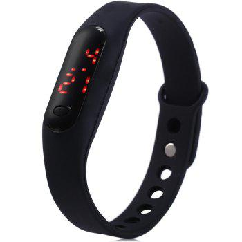 HZ59 Xiaomi Style LED Watch with Red Subtitle Date Display Rubber Strap