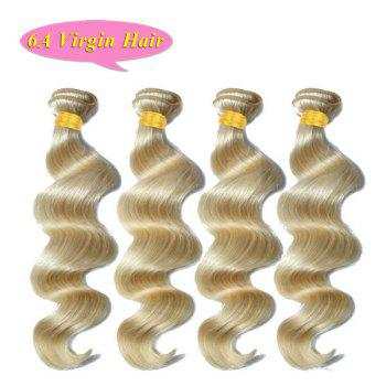 6A Brazilian Virgin Hair Loose Wave Light Blonde 4 Pcs/Lot Women's Human Hair Weave