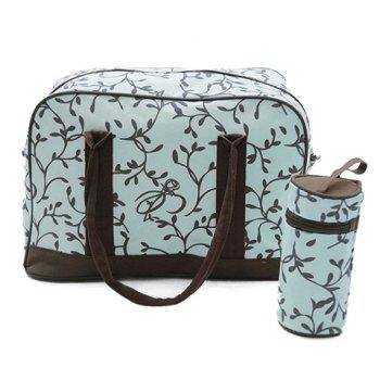 Stylish Color Block and Printed Design Women's Diaper Bag