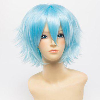 Fluffy Trendy Inclined Bang Short Straight Universal Capless Anti Alice Hair Synthetic Women's Cosplay Wig