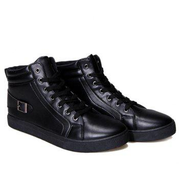 Stylish Solid Color and Buckle Design Boots For Men - BLACK 41