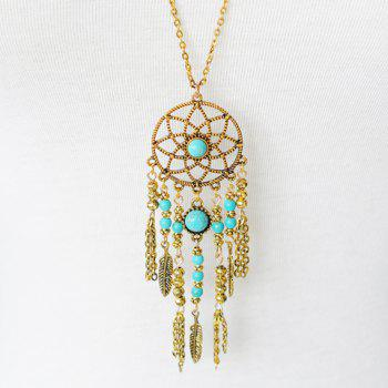 Tassel Pendant Hollow Out Sweater Chain -  GOLDEN