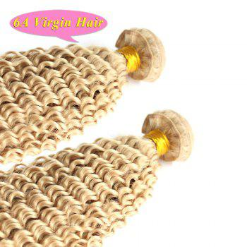 Faddish Kinky Curly Light Blonde Fluffy 4 Pcs/Lot Grade 6A Brazilian Virgin Hair Weave For Women - GOLDEN GOLDEN