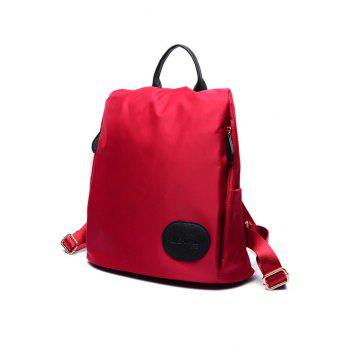 Concise Letter Print and Zipper Design Women's Satchel - WINE RED