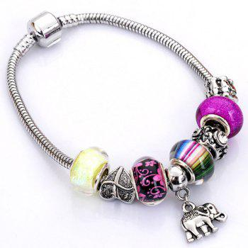 Flower Heart Elephant Butterfly Bead Bracelet