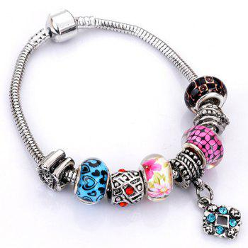 Flower Heart Elephant Butterfly Bead Bracelet - RANDOM COLOR PATTERN