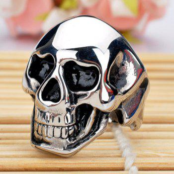 Characteristic Skull Stainless Steel Men's Ring - ONE-SIZE ONE-SIZE