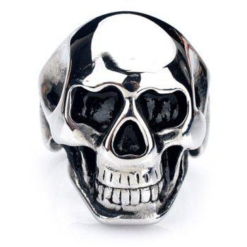 Characteristic Skull Stainless Steel Men's Ring - SILVER WHITE SILVER WHITE