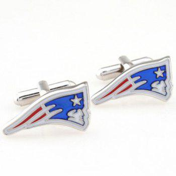 Pair of Stylish Star and Human Head Shape Embellished Men's Cufflinks