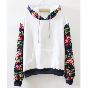 Fresh Style Colorful Spliced Hoodie For Women