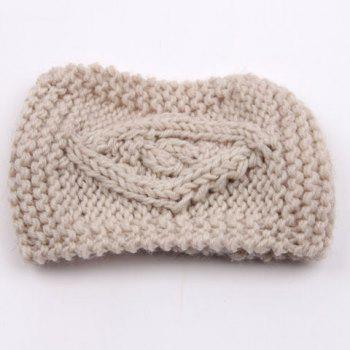 Chic Hemp Flower Jacquard Solid Color Women's Knitted Headband -  RANDOM COLOR