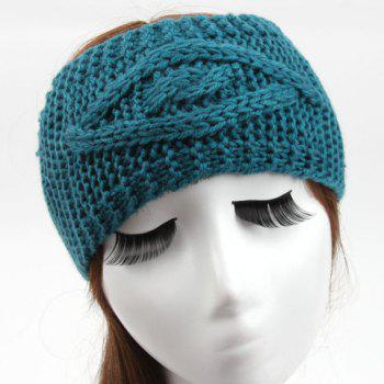 Chic Hemp Flower Jacquard Solid Color Women's Knitted Headband