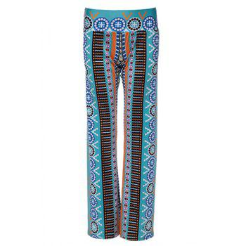 Casual Women's Ethnic Print Wide-Leg Pants