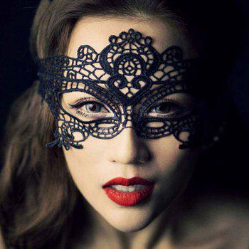 Fashionable Crown Shape Hollow Out Half-Face Lace Halloween Women's Party Mask