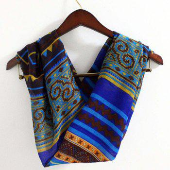 Chic Tribal Geometric Pattern Women's Voile Scarf - RANDOM COLOR