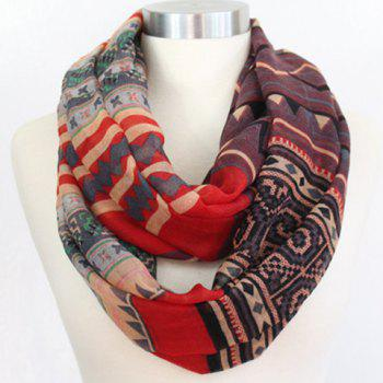 Chic Tribal Geometric Pattern Women's Voile Scarf