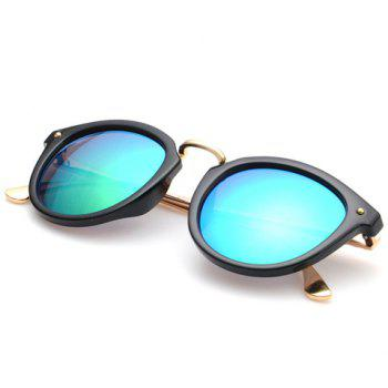Chic Cameo Embellished Black Frame Women's Sunglasses - GREEN