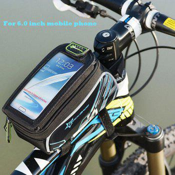 ROCKBROS Bicycle MTB Frame Pannier Front Tube Bag for 6.0 / 4.8 inch Mobile Phone