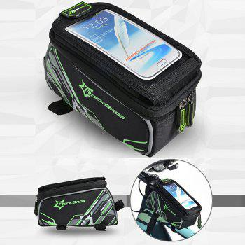 ROCKBROS Bicycle MTB Frame Pannier Front Tube Bag for 6.0 / 4.8 inch Mobile Phone - GREEN FOR 4.8 INCH MOBILE PHONE