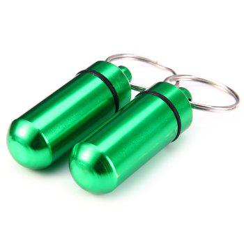 Water Resistant Aluminum Alloy Cartridge Key Ring for Outdoor Survival