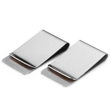 2Pcs EDCGEAR Retro 304 Stainless Steel Card Holder Money Clip