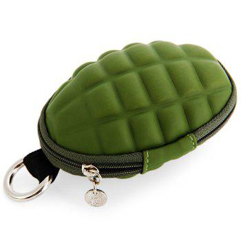Creative Grenade Shaped Zippered Key Bag Coin Pouch -  ARMY GREEN