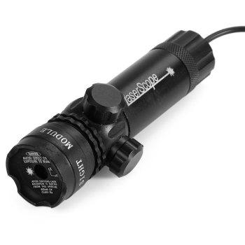 102 Module Green Dot Laser Sight ( Pressing Switch Controlled ) with Mounts -  BLACK