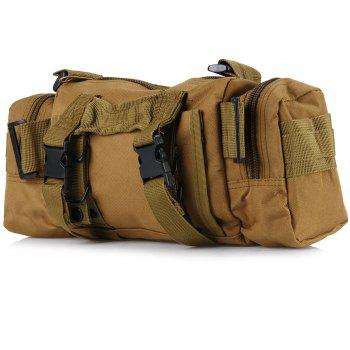 TANTUQI 5L Capacity Casual Outdoor Hiking Messenger Shoulder Bag Waist Pack Cycling Travel Pocket -  DEEP BROWN