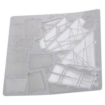 Boat Laser Cutting Model 3D Jigsaw Metallic DIY Toy -  SILVER