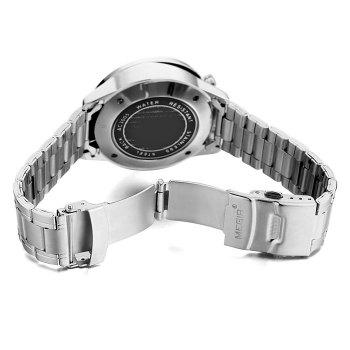 MEGIR 3005 Water Resistant Male Japan Quartz Watch with Luminous Analog Stainless Steel Strap Working Sub-dials - WHITE