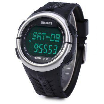 Skmei 1058 Heart Rate Sports LED Watch with Pedometer Function Water Resistance