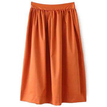Fashionable Ruffle Elastic Waist Skirt For Women