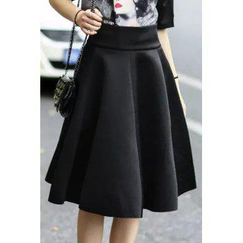 Stylish High Waisted Solid Color Flouncing Women's Skirt