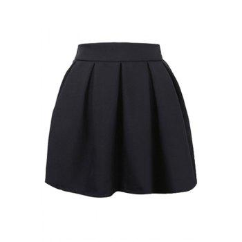 Fashionable Solid Color Zipper Fly Skirt For Women