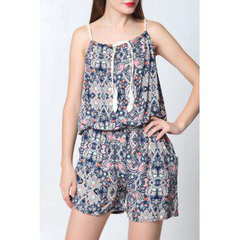 Stylish Cami Vintage Print Women's Playsuit