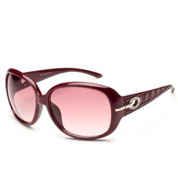 Chic Rhinestone and Hollow Out Design Big Frame Women's Sunglasses - RANDOM COLOR PATTERN
