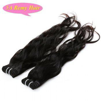 5A Indian Remy Hair Towheaded Wavy Natural Black 3 Pieces/Lot Human Hair Weft For Women - BLACK 10INCH*10INCH*10INCH