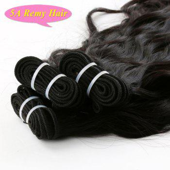 5A Indian Remy Hair Towheaded Wavy Natural Black 3 Pieces/Lot Human Hair Weft For Women - BLACK 10INCH*10INCH*12INCH