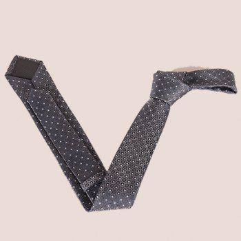 Stylish Fulled Embroidery Jacquard Casual Men's Tie - SILVER GRAY