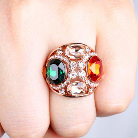 Delicate Luxury Rhinestone Colored Ring For Women - ROSE GOLD ONE-SIZE