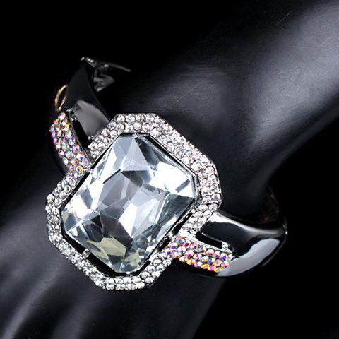 Delicate Faux Crystal Square Bracelet For Women
