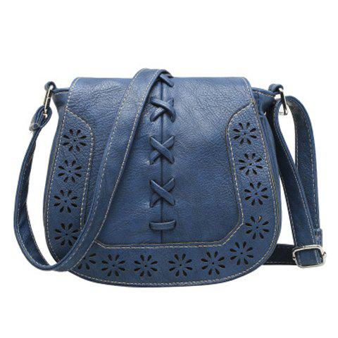 Vintage Weaving and Hollow Out Design Crossbody Bag For Women
